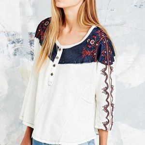 Free People | We The Free | Rio Embroidered Henley